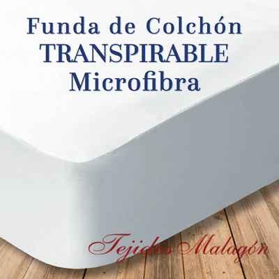 FUNDA DE COLCHÓN TRANSPIRABLE MICROFIBRA.